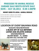 GARAGE SALE/ESTATE SALE TO BENEFIT RESCUE DOGS & CATS