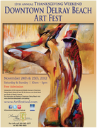 13th Annual Downtown Delray Beach Thanksgiving Weekend Art Fest