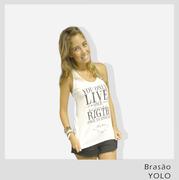 Agere non loqui - Feminina - T shirts Blusas e Camisetas YOLO