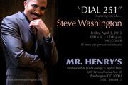 Steve Washington at Mr. Henry's Capitol Hill