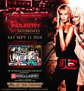 Official grand opening of all new saturdays at industry