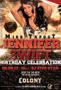 Miss Tapout Jennifer Swift Birthday at Colony Nightclub
