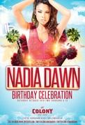 Actress Nadia Dawn Birthday at Colony