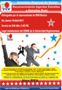 Asamblea Regional De Ventas y Reconocimientos Agentes Estrella y Estrella Rubí. Llevar por favor su credencial de elector.