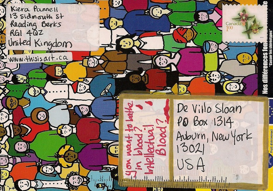 Mail-art by Kiera Pannell