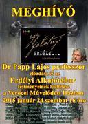 dr.Papp Lajos professzor és az Erdélyi Alkotótábor
