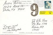 Mail-art by Austin Wills James (Dallas, Texas, USA)