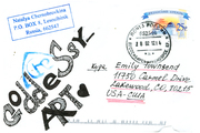 for Emily Townsend (Goddess Mail Art) 2011