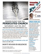 July 29th Praying for the Persecuted Church