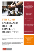Faster and Better Conflict Resolution