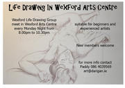 Weekly Life Drawing in Wexford Arts Centre