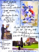 Watercolour Course at Huntington Castle with John Hoar
