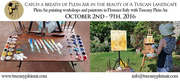Tuscany Plein Air - October 2nd-9th 2016