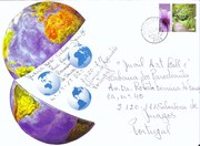 Frente-sobrescrito de envio do Mail Art