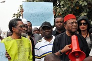 A Peaceful Protest Against  Deploy of Soldiers in Lagos- 18