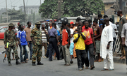 Army Stop Protesters in Ojota- 1