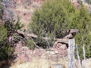 cabin remains near Chloride, NM
