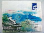 彩绘的信封