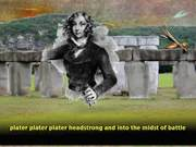 Emilia Plater, Polish Revolutionary Fighter at the site of the fake Stonehenge in Texas because I love Photoshop.