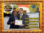 """José Rodrigues Rocha Junior, a Moção de Congratulação  e Aplauso da Câmara Municipal de Várzea Grande além de """"Medalha de Ouro Senador Magno Malta"""