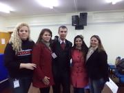 Equipe da Secretaria Municipal da Criança e Ação Social com o Palestrante Cazé Fortes