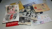 Altered book pages- mail art received