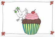 125/365.3 chicken celebrates chocolate cupcake day 2016