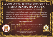 Embaixador da poesia _Sidnei Piedade