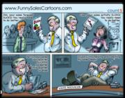 Sales Coaching Best Practices Cartoon