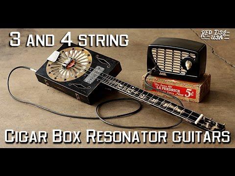 Cigar Box Resonator Guitars - 3 & 4 string - Resophonic