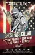 GHOSTFACE PERFORMING IN MIAMI JULY 5