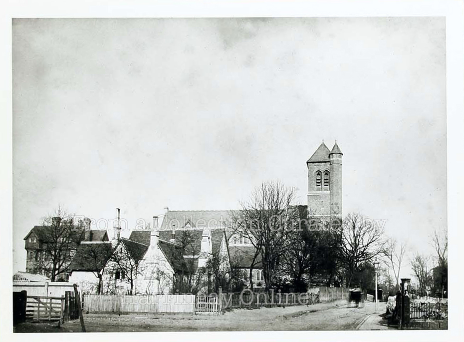 Holy Innocents Church & Old School Tottenham Lane, c1890