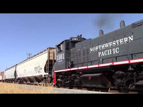Northwestern Pacific and SMART in Novato - 9/4/2016