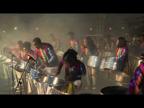 Trinidad All Stars Steel Orchestra - Woman on the Bass -  NORTH SOUTH PAN SPEKTAKULA