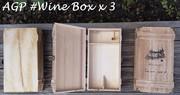 Ebay - Vintage Wood 2 Red Wine Bottle Box Carrier Crate