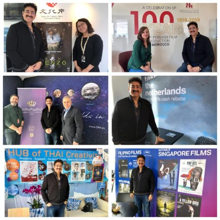 Sandeep Marwah Visited Various Pavilions at Cannes