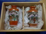 Japan vases in crate