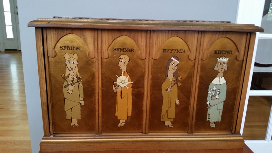 1963 Four Seasons Theme - Mid-Century Bar Cabinet