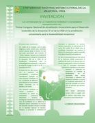 I CONGRESO DE ACREDITACIÓN EN LA AMAZONIA