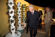 President Clinton and Tower Garden