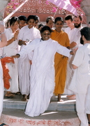 Amma arives at a venue site