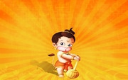 Hanuman in  young age - full of power and joy