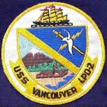 uss vancouver ship patch