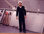 EN3 Toto Ready for Shore patrol Sasebo Japan 1973