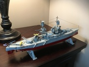 My models and USS Kidd picture