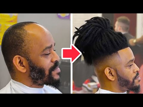 THIS BARBER IS A MASTER OF INSTALLING MAN WEAVE | BEFORE & AFTER MAKEOVERS