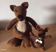 Amigurumi Känguru mit Baby