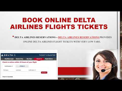 Avail Delta Ticket Booking Help at Delta Airlines Reservations