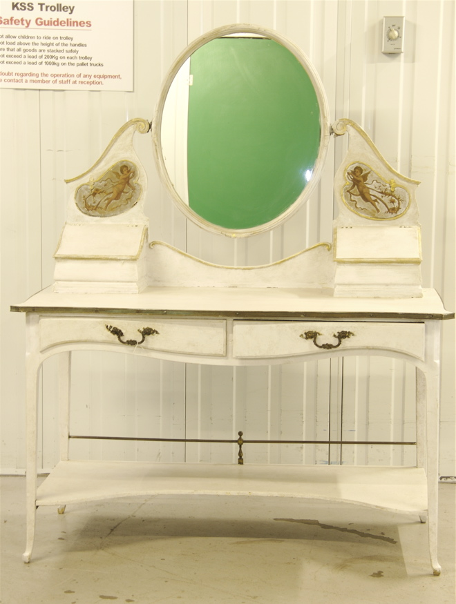 antique angel motif  dressing table