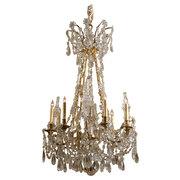 PP75 Louis XVI design Crystal & Gilt-bronze Chandelier, France c. 1880